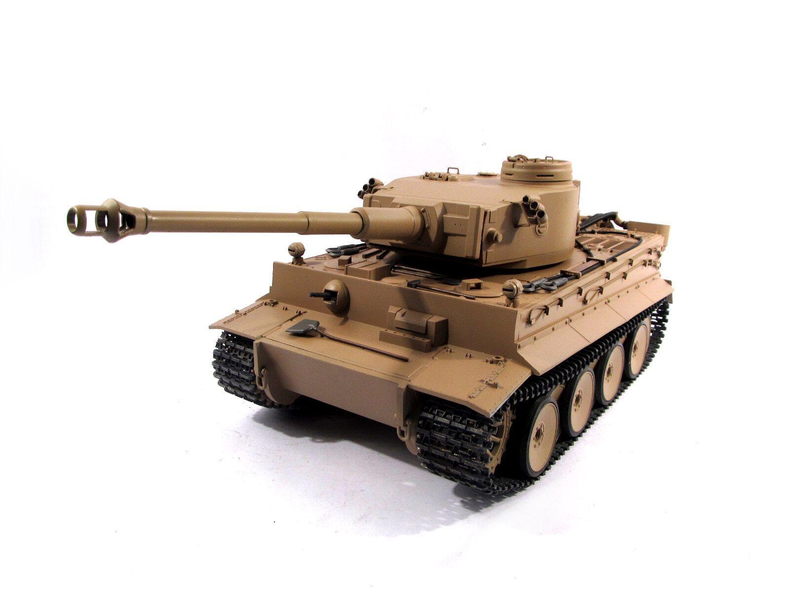 Completa de metal Mato Tiger I Tanque RC versión Kit Infrarrojo Color Amarillo 1220
