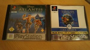 Sony-Playstation1-PS1-Disneys-Atlantis-und-Populous-The-Beginning-PS1