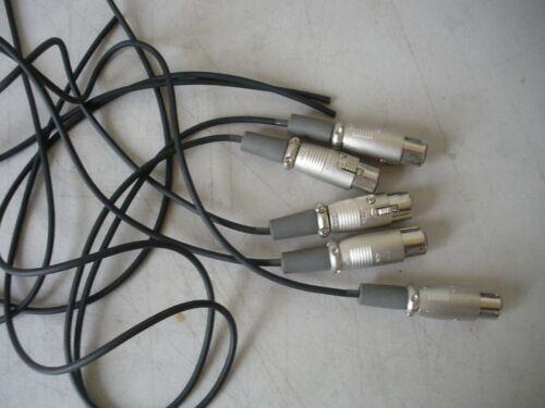"Lot of 5 XLR Connector Plugs 4 pin Female  Locking  ITT Canon xlr11 /""Used/"""