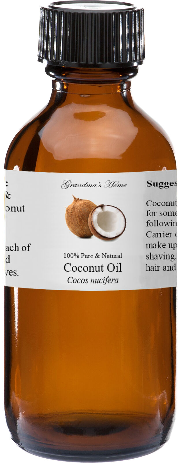 Coconut  Oil - 4 oz - 100% Pure and Natural - Free Shipping