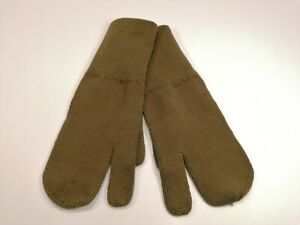Genuine Yugo JNA Army Military Wool Gloves Trigger Finger Mittens OD Green L- XL