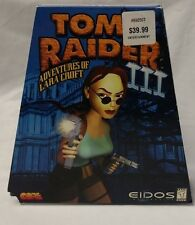 Tomb Raider III 3 Lara Croft PC Game Trapezoid Complete Rare In Box Eidos