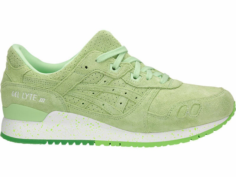 {H803L.8787} hommes ASICS TIGER GEL-LYTE III NEON RUNNING Chaussures PATINA GREEN NEW