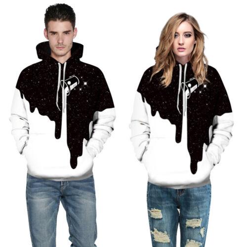 men and women 3D Digital Print Sweatshirts Hooded Top Galaxy Pattern Hoodie