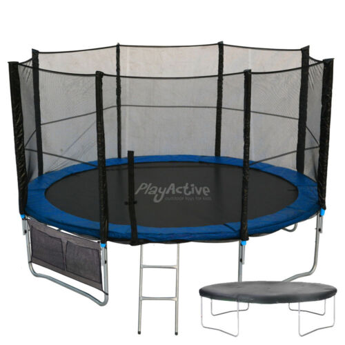 8FT Trampoline With FREE Safety Net Enclosure + Shoe Bag Ladder Rain Cover