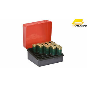 2 Shotgun Ammo Shotshell Box Ammunition Storage 25 Rd Green Plastic 12,16,20 Ga