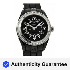 Perrelet Classic Eve Black Ceramic Automatic Ladies Bracelet Watch A2041/BA