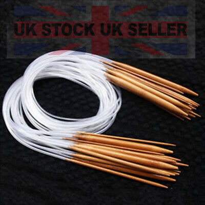 5.0mm 2,0mm 11x Ferri Maglia Circolari In Bambù Per Lavoro A Maglia