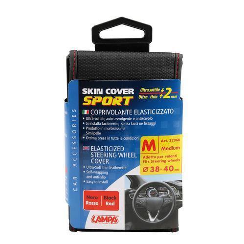 Skin-Cover Nero//Rosso M Ø 37//39 mm coprivolante elasticizzato