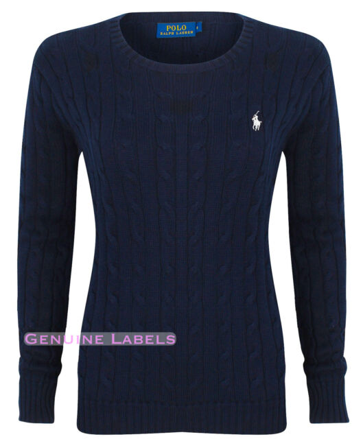 066443f199bf Womens Polo Ralph Lauren Ladies Crew Neck Julianna Cable Knit Jumper ...