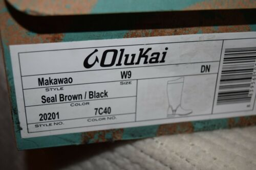 Black Women/'s Tall Boots OluKai Makawao Seal Brown