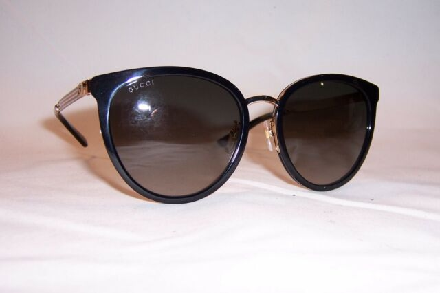 5e9265b3515 Authentic Gucci Gg0077sk 001 Black and Gold With Grey Gradient Sunglasses