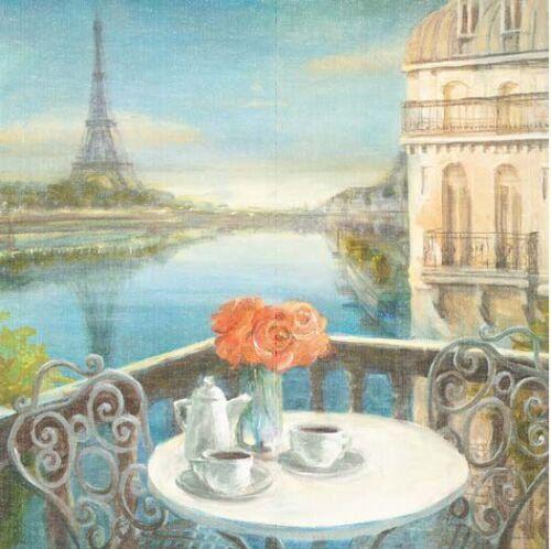 Danhui Nai Morning on the Seine Crop Keilrahmen-Bild Leinwand Paris Romantik