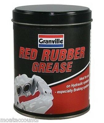 Red Rubber Grease For Brake Systems Rubbers  [0846] 500 gram Tin
