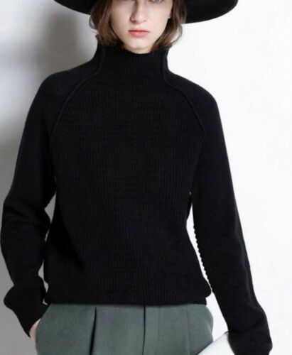Womens Winter Cashmere High-Collar Thicken Sweater Pullover Casual Loose Fashion