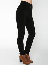 American Apparel Easy Jean Pant Black Velvet Velveteen Pants NEW Size: XXS 2XS