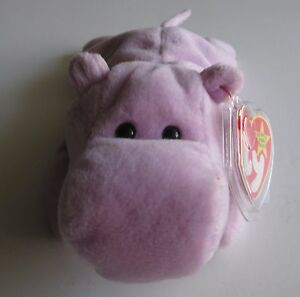 Ty Beanie Baby Happy the Hippo, great condition