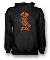 Flamed Aztec Tribal Warrior Tattoo - Mens Hoodie