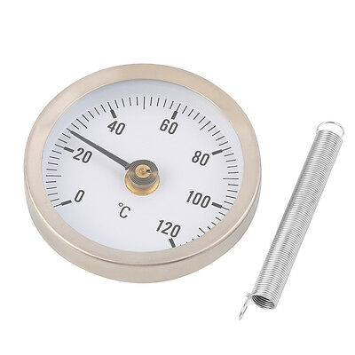 63mm Dial Metal Pipe Thermometer Clip-on Temperature Gauge with Spring LE