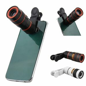 Universal 8X Zoom Clip-on Camera Telescope Lens For iOS Android Cell Phone