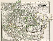 171 Jahre alte Landkarte UNGARN Serbien Bosnien Moldau Bulgarien Walachei 1846