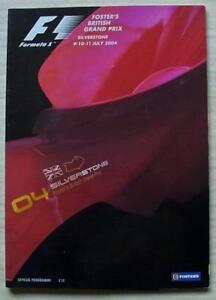 BRITISH-GRAND-PRIX-FORMULA-ONE-F1-2004-Silverstone-Official-Programme
