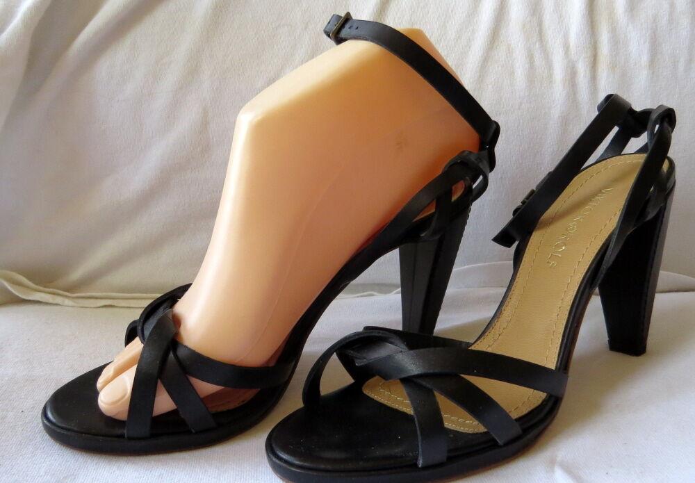 protezione post-vendita NEW  556 VIKTOR ROLF nero Leather Leather Leather Twist Ankle Strap Sandals scarpe Heels 36.5 6  il più alla moda