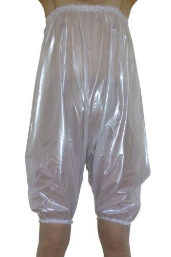 Pearly PVC TRASPARENTE BIANCO Pantaloni Mutandoni Sissy Giocare Suit in plastica Romper XL XXL