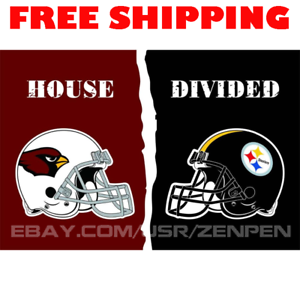 9301b73e Details about Arizona Cardinals vs Pittsburgh Steelers House Divided Flag  Banner 3x5 ft 2019