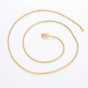 "Women/'s//Men/'s Cross Pendant Link 18k Yellow Gold Filled Necklace 18/"" Chain"