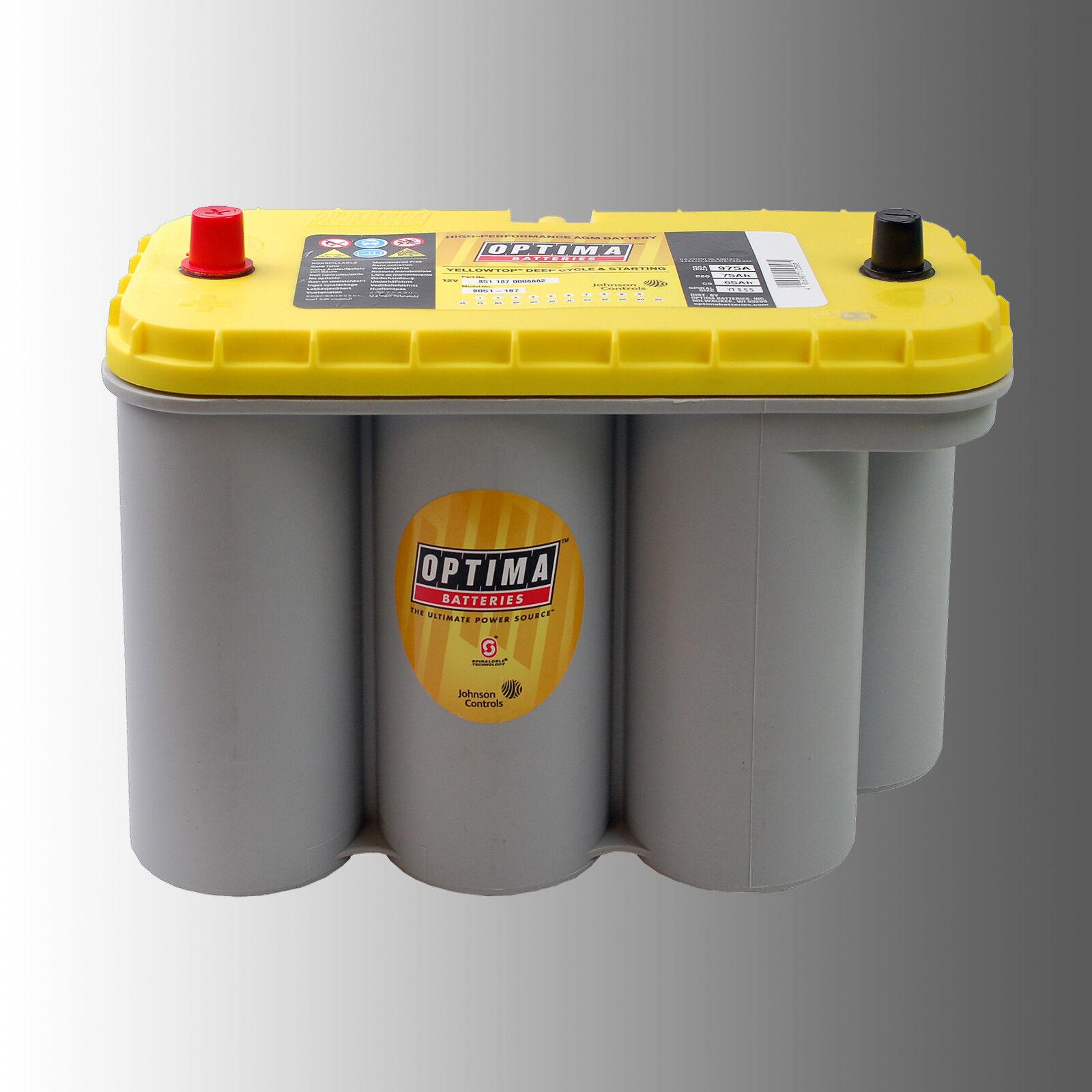 Aktion - Optima Gelb Top GelbTop Batterie YTS5.5 12V 75Ah 975A (CCA EN1)