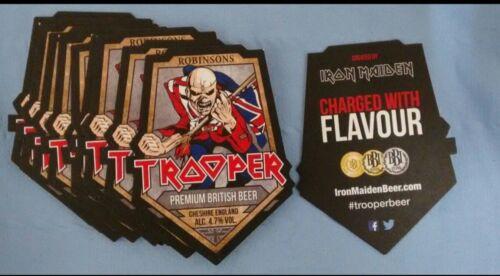 *NEW* 10 Robinsons Trooper Iron Maiden Beer Beer Mats