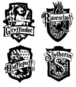 Harry Potter Hogwarts House Shields Cut Vinyl Sticker