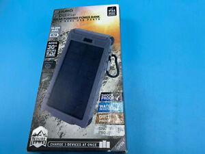 ADURO 10000mAh Solar Power Bank LED Dual USB Backup Battery Charger GRAY
