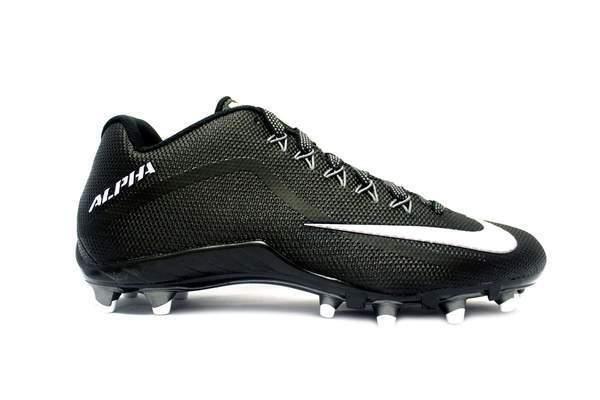 b1be1955705c Nike Alpha Pro 2 TD Mens Football Lacrosse Cleats Black White 13.5 ...