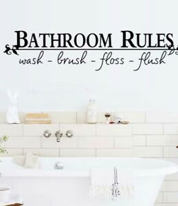 Slogan Graphic Wall Core Sticker for the Bathroom: Brand ...
