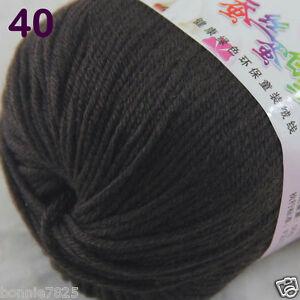 Sale-1-Skein-x50g-Baby-Cashmere-Silk-Wool-Children-hand-knitting-Crochet-Yarn-40