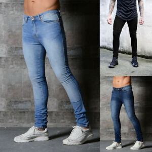 Hot-Men-Stretchy-Slim-Fit-Denim-Pants-Casual-Long-Straight-Trousers-Skinny-Jeans