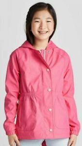 Girls/' Solid Rain Coat XS//S//M//L//XL Cat /& Jack Pink Outerwear Hooded