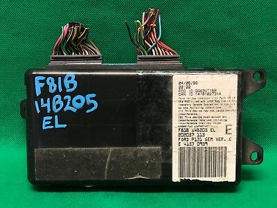99-01 FORD F250 F350 SUPER DUTY INTERIOR FUSE BOX GEM MODULE F81B-14B205-EL  EL | eBay
