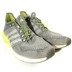 Adidas Mens CC Cosmic Boost Running Sneakers Shoes Gray & Lime ...