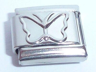 SILVER BUTTERFLY Italian Charm - 9mm fits Classic Bracelets - Butterflies N221
