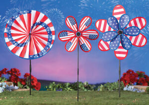 Set-of-3-Patriotic-Americana-4th-of-July-Garden-Yard-Wind-Spinner-Stakes