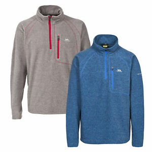 Trespass Bilbao Mens Lightweight Half Zip Hiking Fleece Walking Casual Jumper