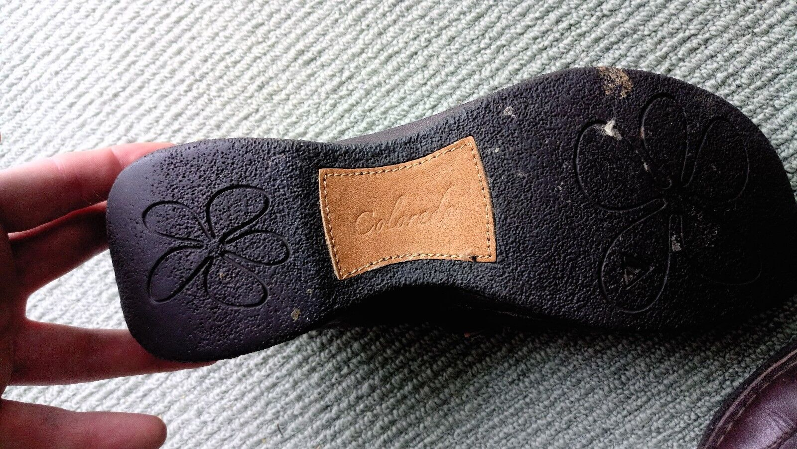 Vintage Colarado Women's Lady shamrock Jane Shoes Clogs Brown Leather shamrock Lady Sz9.5 313b94