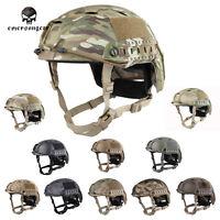 Emerson Tacitcal Fast Helmet Bj Type Military Airsoft Headwear Mc Black Em5659