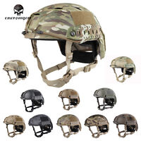 Emerson Fast Helmet Bj Type Tacitcal Outdoor Airsoft Headwear Mc Black De 5659