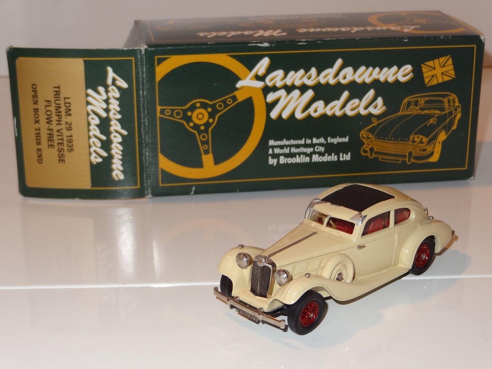 (EB) LANSDOWNE BROOKLIN BIANCO METALLO 1935 Triumph Vitesse flusso libero-LDM 29