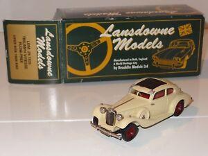 (eb) Lansdowne Brooklin Métal Blanc 1935 Triumph Vitesse Flow Libre-ldm 29-afficher Le Titre D'origine