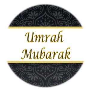 Details about 35 Umrah Mubarak Stickers Congratulations Black & Gold Umrah  Islamic Muslim 316